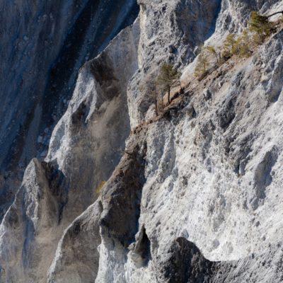 Landschaft in Auflösung - Ruin Aulta, Rhein - 8. Februar 2008