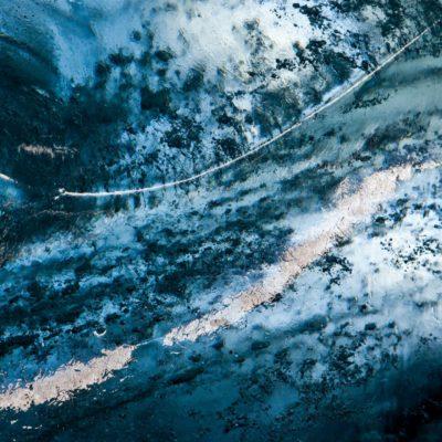 Lichtzeichen auf Eiswand - Morteratschgletscher - 21. Oktober 2011