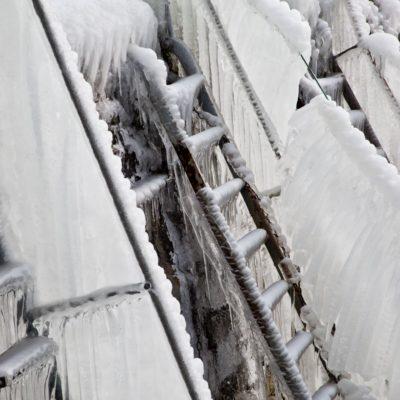 Vereiste Bootsleitern - Romanshorn, Hafen - 25. Februar 2018
