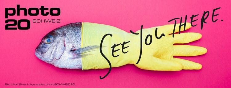 Logo mit Fisch der photoSCHWEIZ 2020