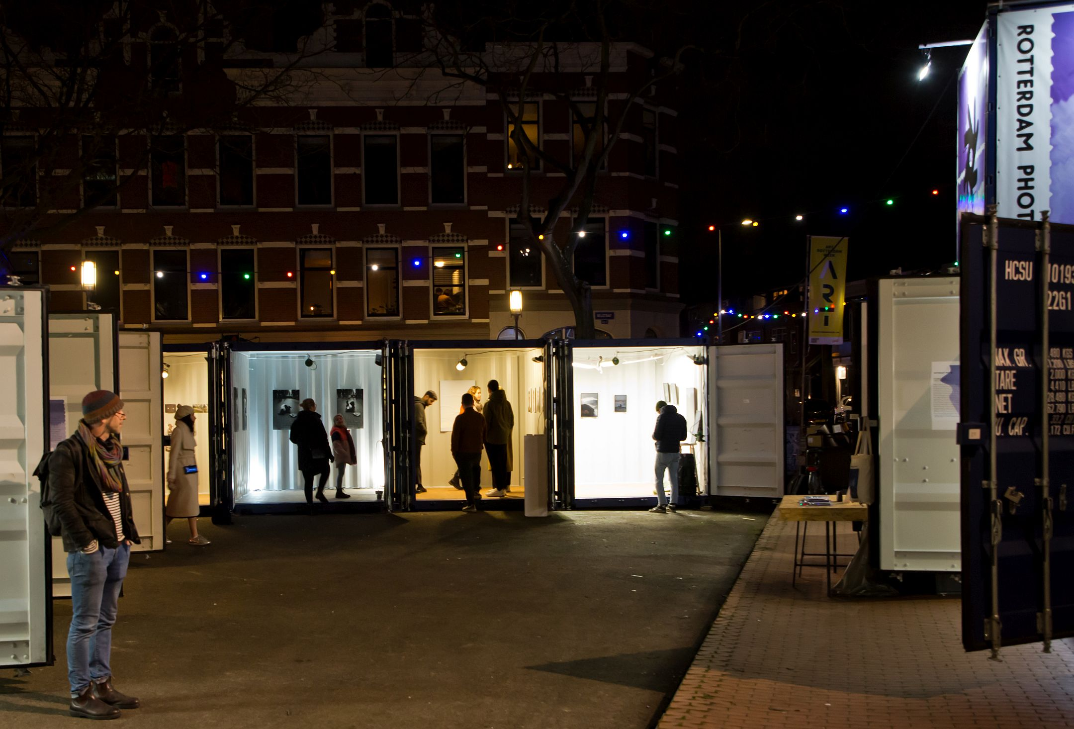 Rotterdam Photo Festival 2020 at Deliplein in the Katendrecht district.