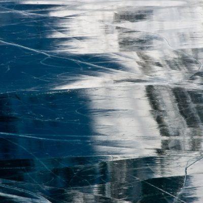 Spiegelnde Eiskacheln - Lago Bianco - 16. Dezember 2016